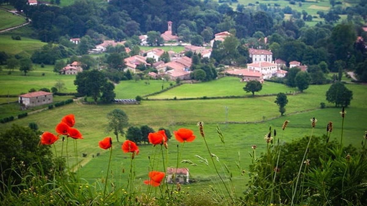 La localidad de Esles, en Santa María Cayón.