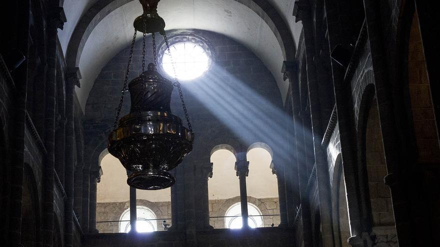 El botafumeiro, símbolo de la Catedral de Santiago de Compostela.