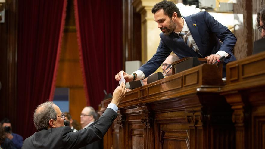 Torra apoya a Torrent, Costa y Campdepadrós tras pedir el TC a la Fiscalía que les investigue