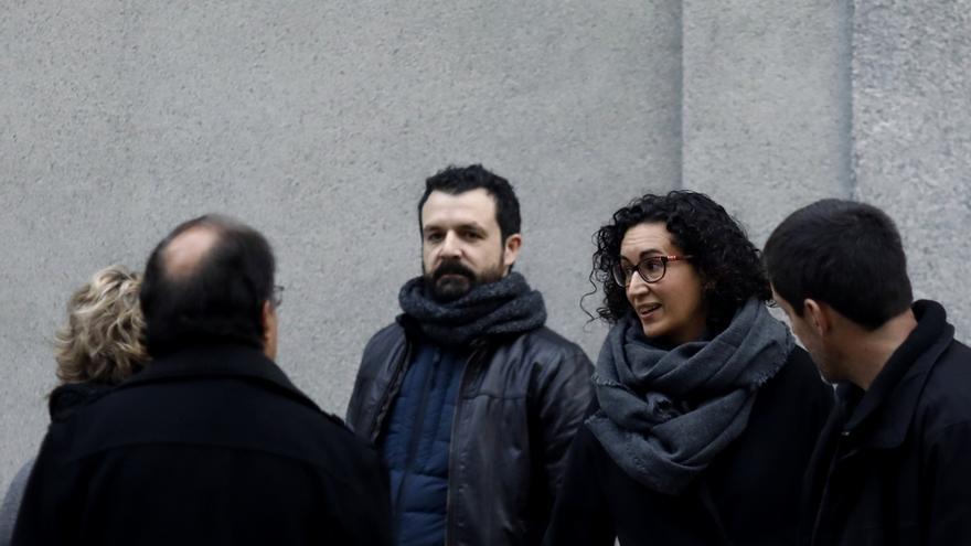 La secretaria general de ERC, Marta Rovira, a su llegada al Tribunal Supremo.