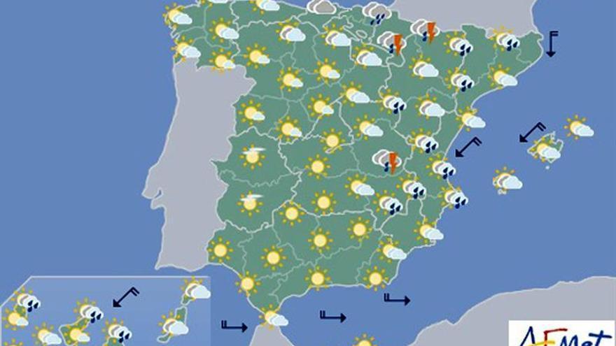 Las temperaturas subirán hoy en el noroeste
