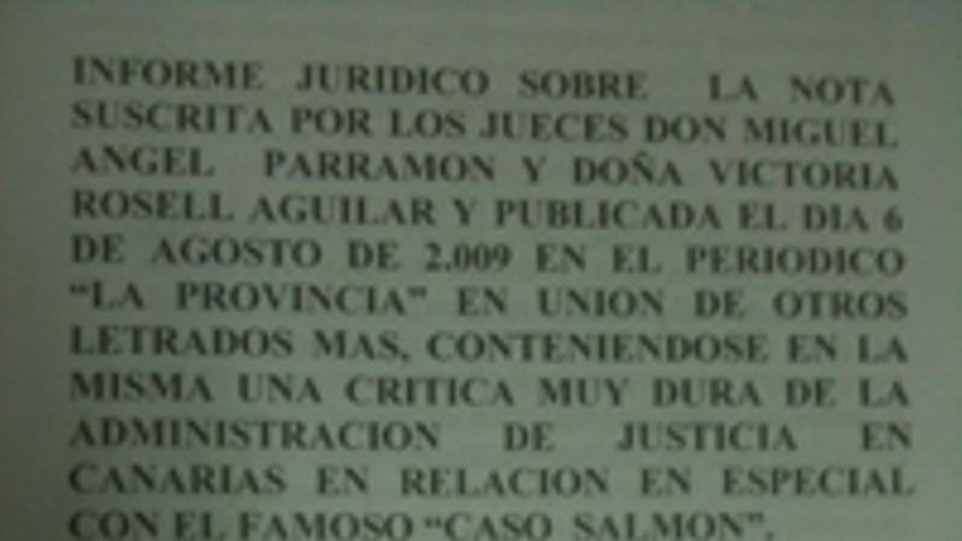 Portada del informe jurídico gallego.