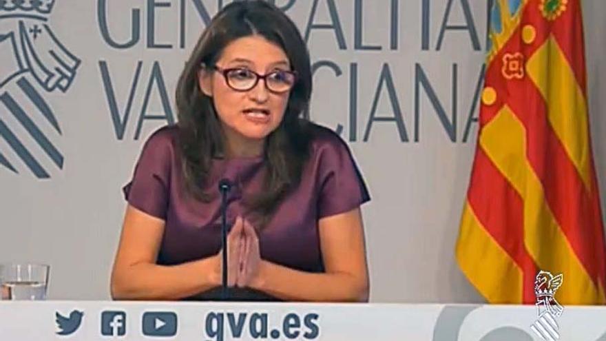 La vicepresidenta del Consell, Mónica Oltra, informa de los acuerdos del gobierno valenciano