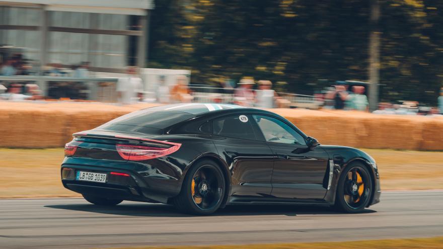 Porsche Taycan, en Goodwood Festival of Speed 2019.