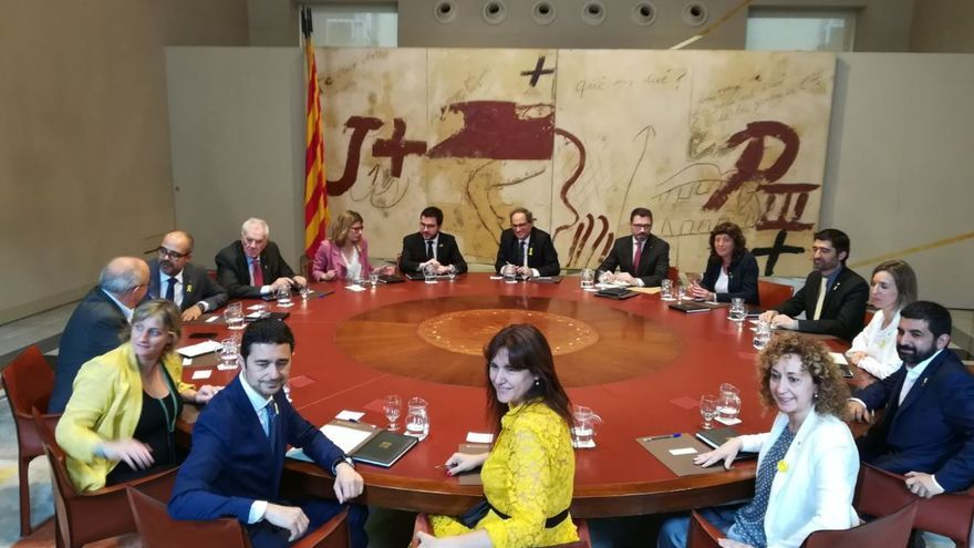 Primera reunión del nuevo Govern de la Generalitat