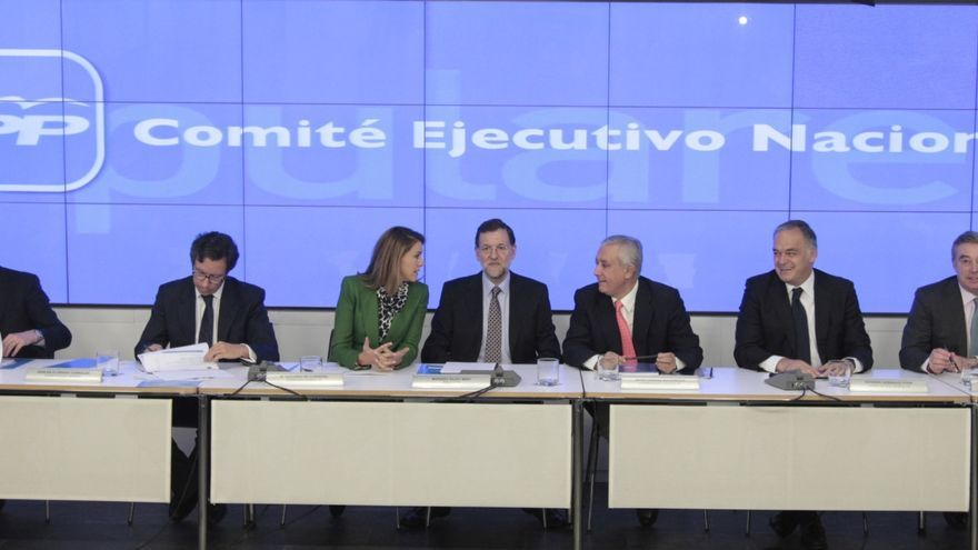Rajoy arranca con el Comité Ejecutivo del PP un año marcado por las europeas, Cataluña y la crisis económica