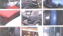 Fotografías incluidas en uno de los atestados policiales levantados en el depósito municipal de La Laguna.