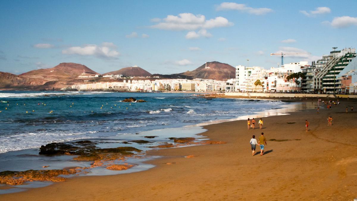 Playa de Las Canteras, en Las Palmas de Gran Canaria.