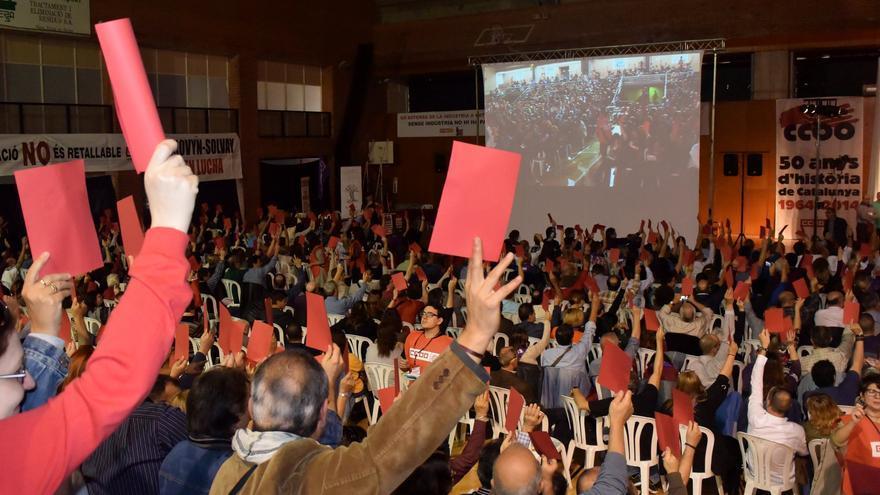 Votación final de l'Assemblea Sindical Oberta, de hace un año foto: TOMEU FERRER