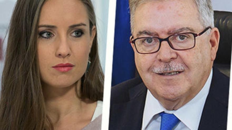 La diputada de Ciudadanos Melisa Rodríguez y el líder de Unidos por Gran Canaria José Miguel Bravo de Laguna.