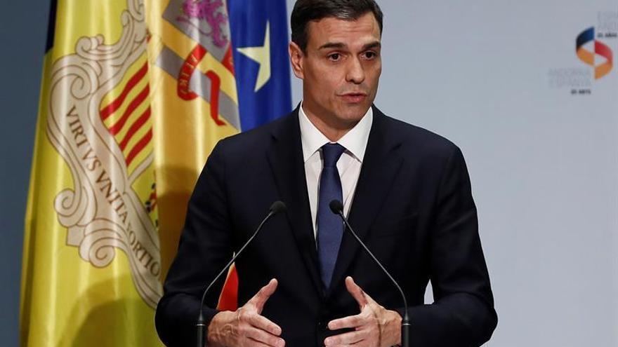 El presidente del Gobierno, Pedro Sánchez, en uno de sus primeros actos oficiales.