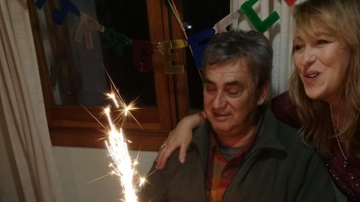 Claudia Costa y Tino John se estaban juntos hace 16 años. El cumpliría 64 el 28 de junio.