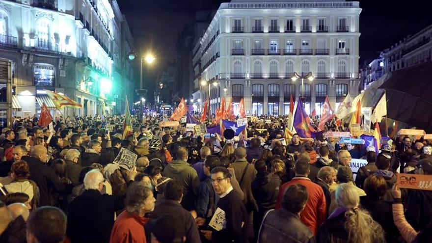 """Una manifestación pide en Madrid la liberación de los """"presos políticos"""""""