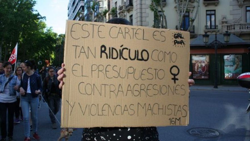 Manifestante en Albacete