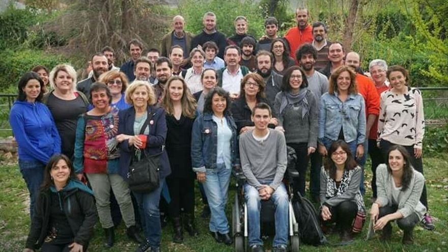 Reunión de candidatos de Ahora Madrid y la Mesa de Coordinación, en abril de 2015.