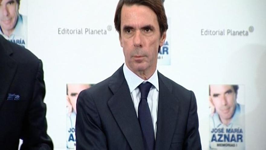 Aznar 'reaparece' este lunes en medio de una gran expectación por si vuelve a criticar a Rajoy