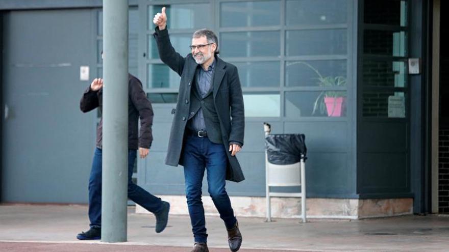 Jordi Cuixart sale de la prisión de Lledoners con un permiso de 72 horas