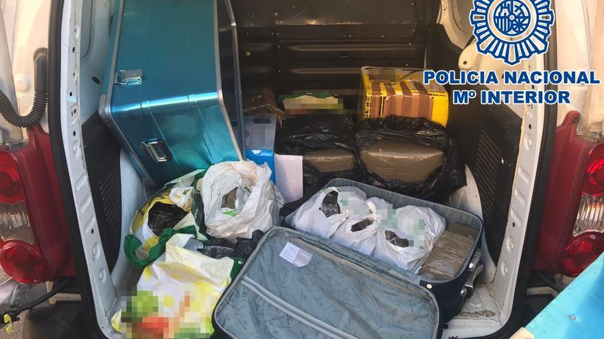La Policía desarticula una banda que distribuía hachís en Canarias
