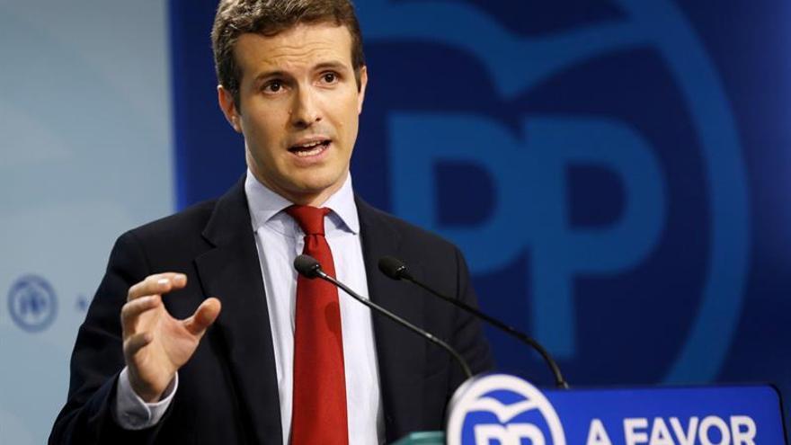 """Casado (PP) percibe """"mensaje claro"""" del Rey a """"populistas y secesionistas"""""""