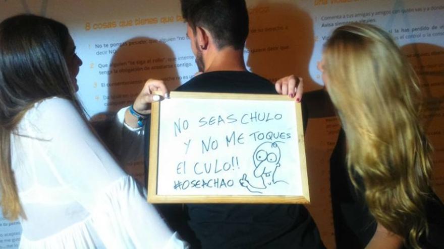 """Participantes en la campaña 'Sin un sí, es no"""""""