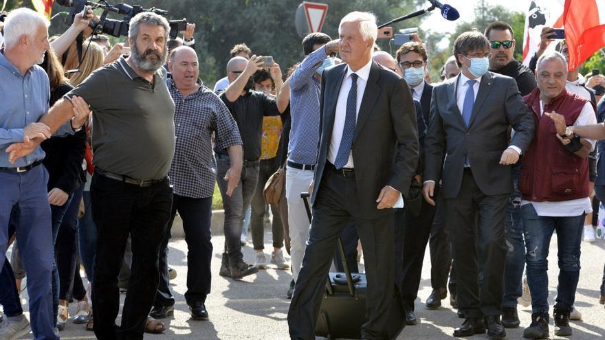 Carles Puigdemont, en Sassari. EFE/EPA/CLAUDIA SANCIUS
