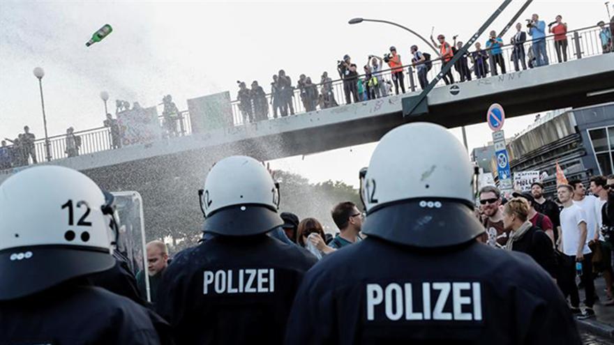 Disturbios durante la manifestación contra la cumbre del G20 en Hamburgo