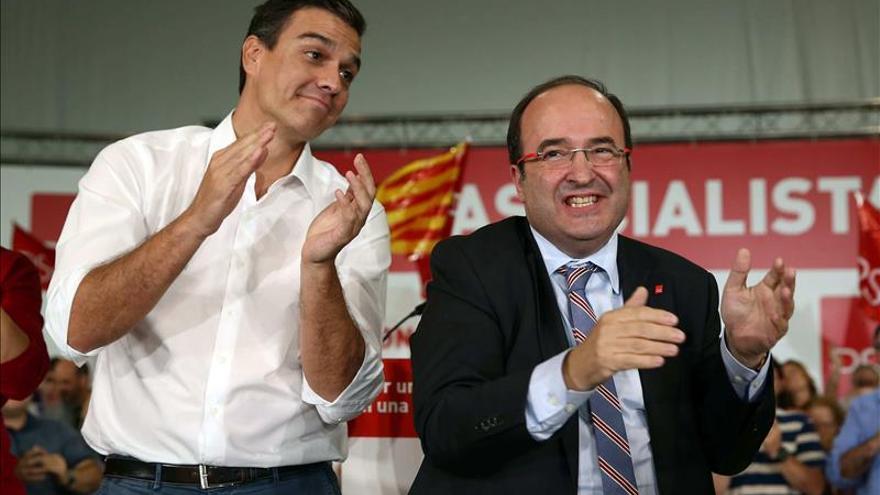 """Sánchez se compromete a """"reconstruir la unidad de Cataluña desde el Gobierno"""""""