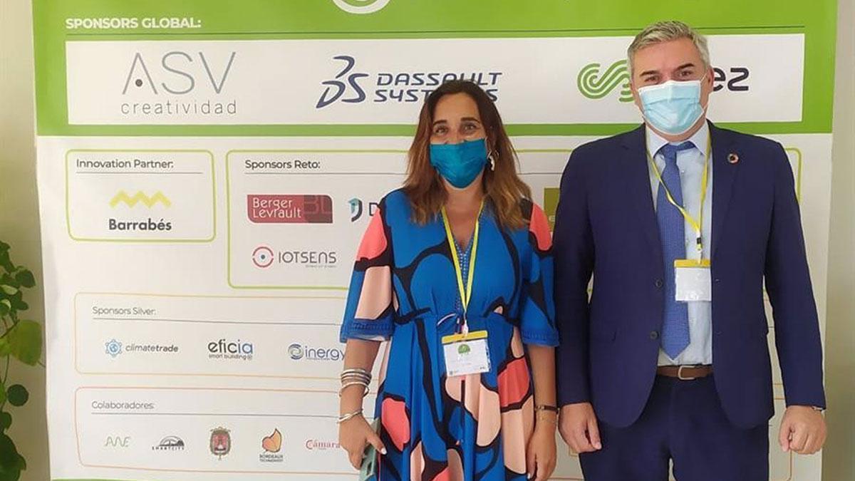 El delegado de Programas Europeos y Administración Electrónica de la Diputación de Córdoba, Víctor Montoro, en el I Foro Internacional 'Territorios y turismo sostenible 5.0'.