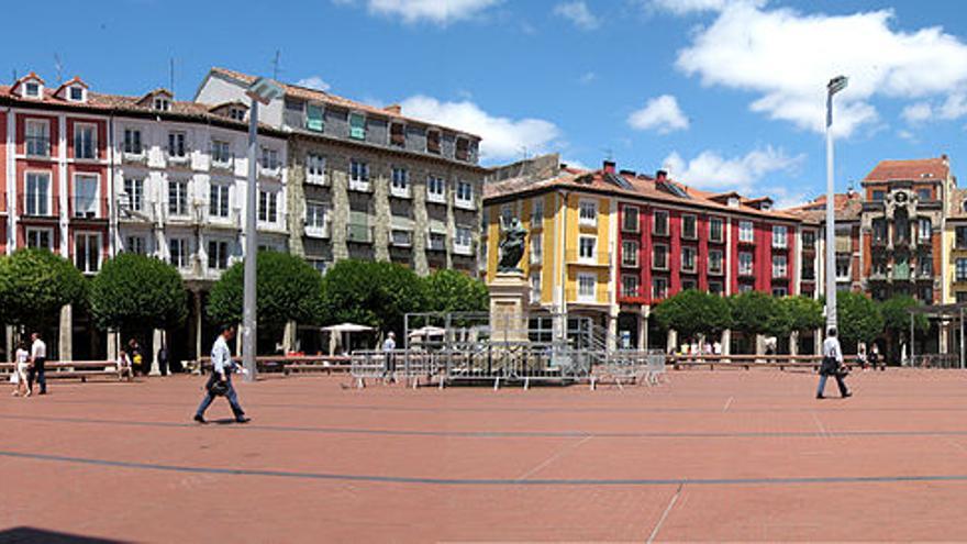 La Plaza Mayor de Burgos.