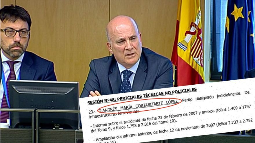 Andrés Cortabitarte durante su comparecencia en la investigación sobre Angrois en el Congreso y citación como perito para el juicio de Valencia
