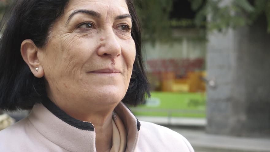 Naima Hammami, secretaria general adjunta del sindicato tunecino UGTT