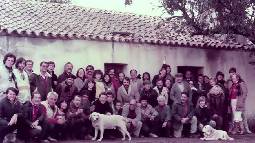 Foto de familia del equipo de rodaje