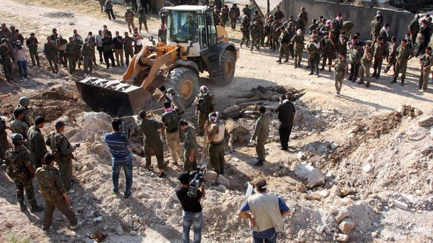 El Ejército sirio descubre una fosa común con 31 cadáveres en Palmira