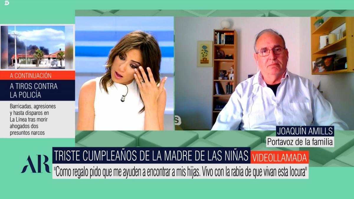 Patricia Pardo, emocionada al escuchar la carta de Beatriz, la madre de las niñas desaparecidas