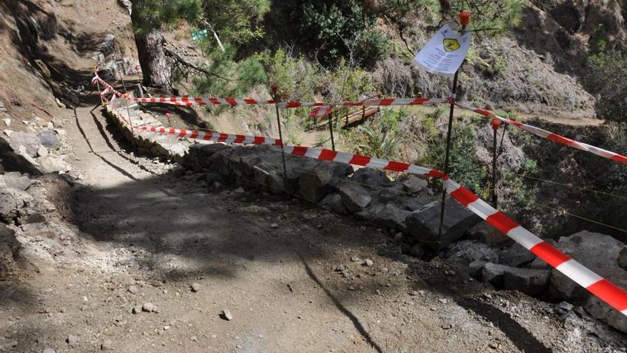 En la imagen, un tramo del sendero de Los Brecitos que está siendo mejorado. Foto: Parque Nacional.
