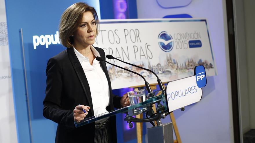 """Cospedal recalca que """"si hay una caja B no es del PP"""" y ve """"vomitivo"""" hablar de un pacto PP-Bárcenas"""