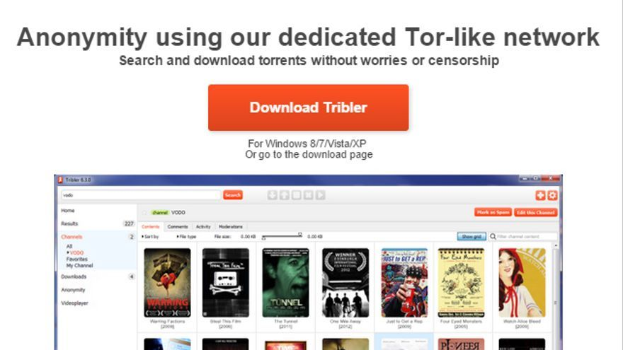 Página web de Tribler, anunciando el desarrollo de su última versión que protege el anonimato de los archivos (Foto: Tribler)