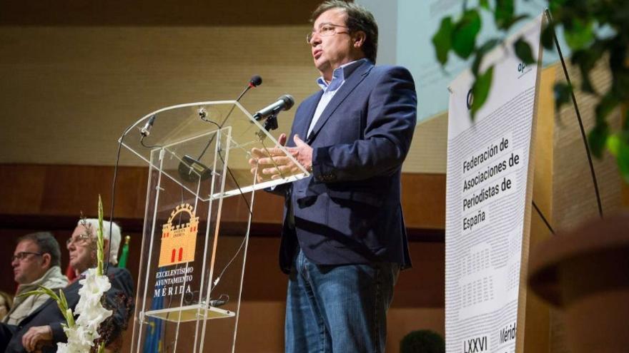 El presidente de la Junta de Extremadura, Guillermo Fernández Vara, ha inaugurado la LXXVI Asamblea General de la Federación de Asociaciones de Periodistas de España (FAPE)