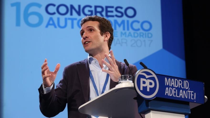 """Casado cree que Cifuentes """"ejemplifica lo mejor de Madrid"""": """"Encarna lo que la gente quiere ver en nuestro partido"""""""