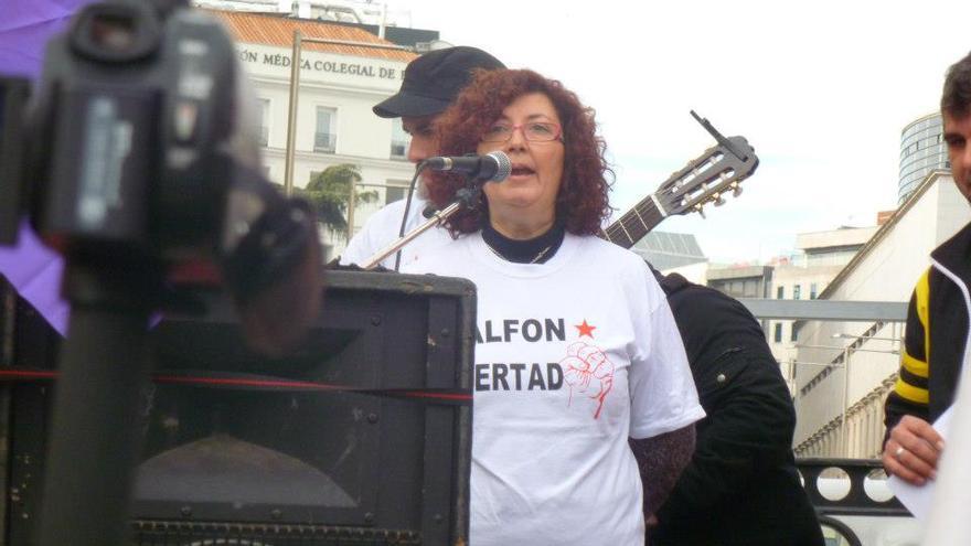 Elena Ortega, madre de Alfon, el único detenido del 14N aún en prisión, es una de las integrantes de la Asociación de Madres contra la Represión