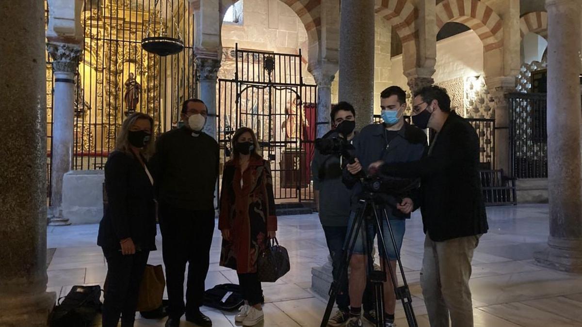 Grabación en el interior de la Mezquita Catedral de Córdoba