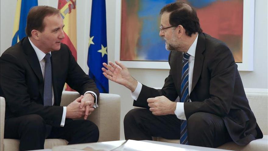 Rajoy analiza con el primer ministro sueco la actualidad política y económica