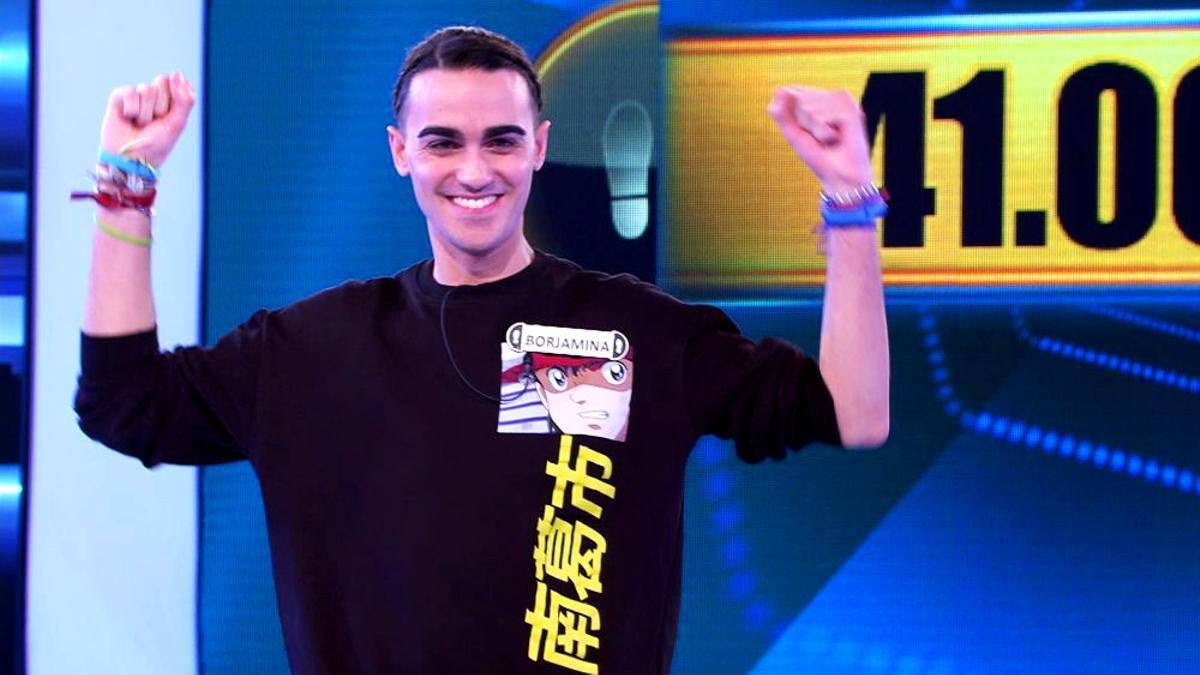 Borja, el concursante más longevo de '¡Ahora caigo!'