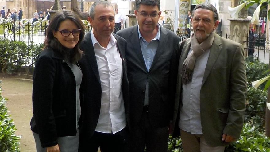 Los representantes de Compromís Mónica Oltra, Joan Baldoví, Enric Morera y Juan Ponce