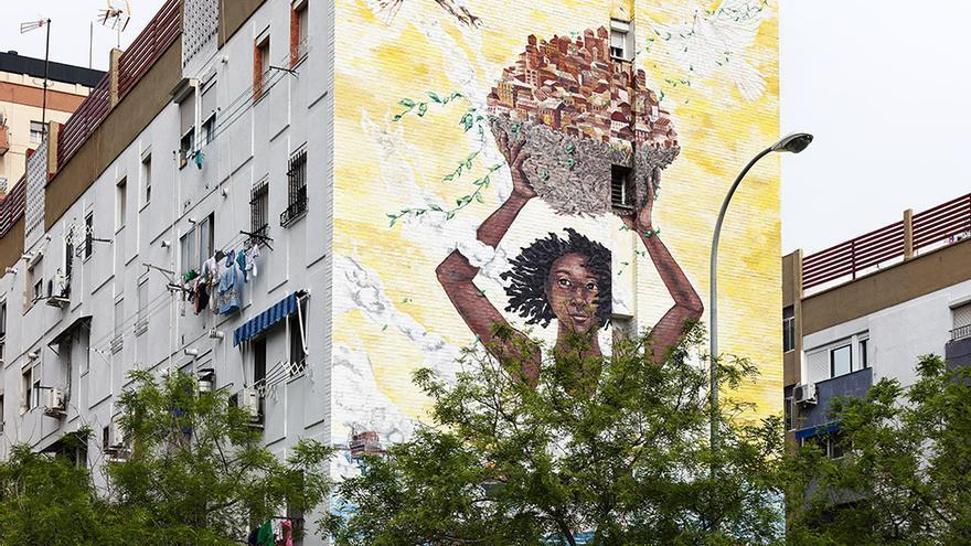 Proyecto Arte para todos, en el Polígono Sur de Sevilla.