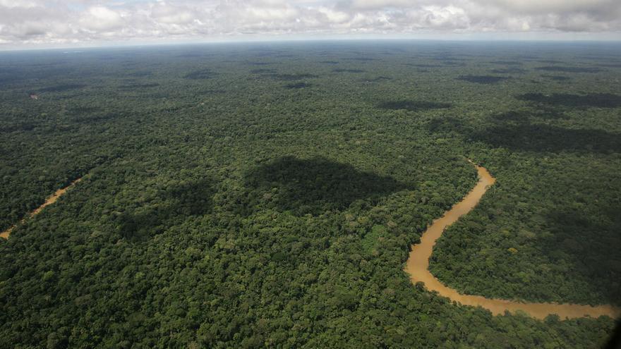 Vista aérea del Parque Nacional del Yasuní, designado por la Unesco en 1989 como una reserva de la biosfera./ Dolores Ochoa