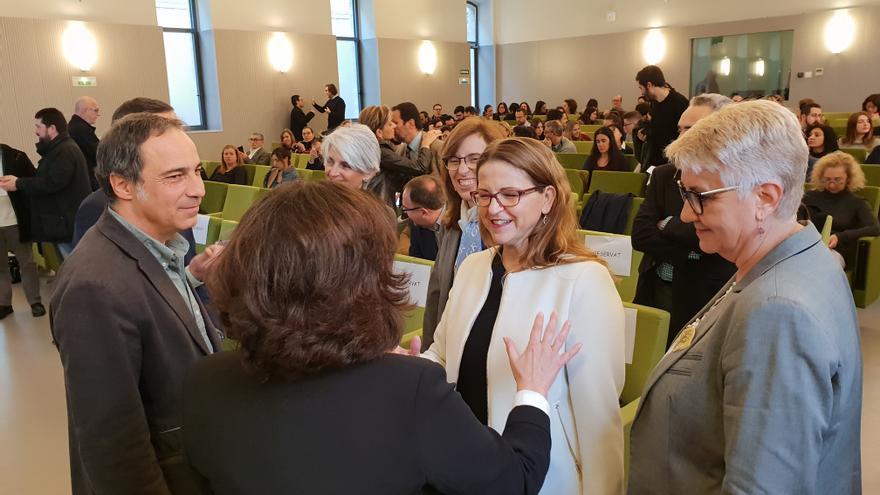 Imagen de la jornada en la que participó la consellera Elena Cebrián