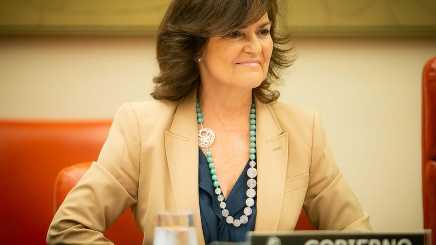 La vicepresidenta Carmen Calvo arropa a los socialistas gallegos en los actos de arranque de su curso político