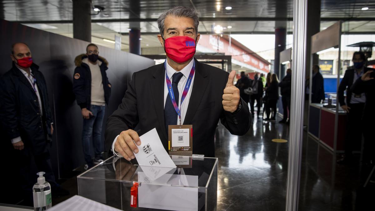 Votación de Joan Laporta