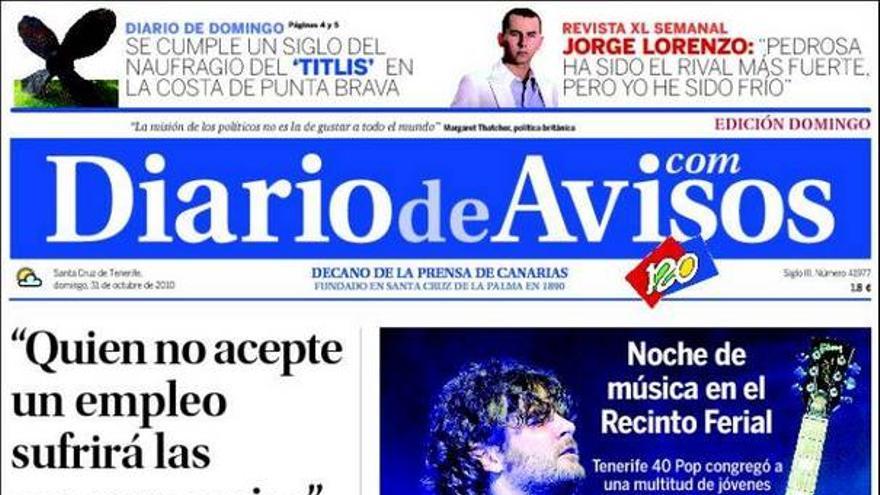 De las portadas del día (31/10/2010) #2